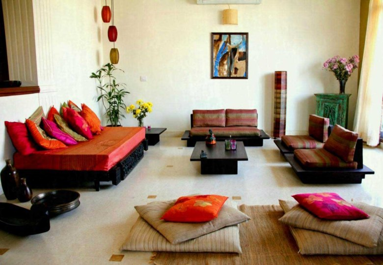 Living Room Designs Indian Style For Middle Class Family