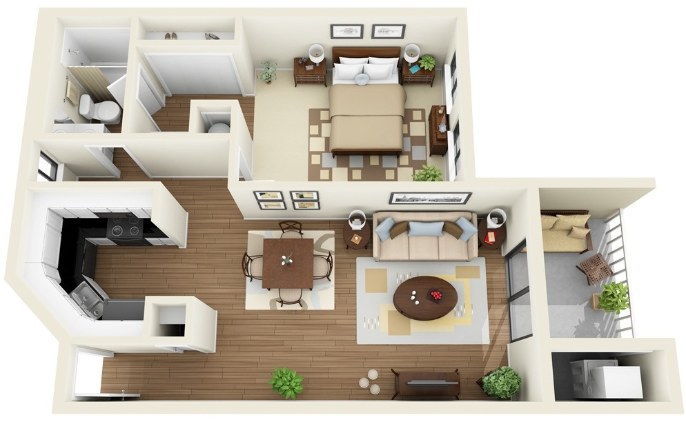 Duplex House Plans for 30*40' Site East Facing House
